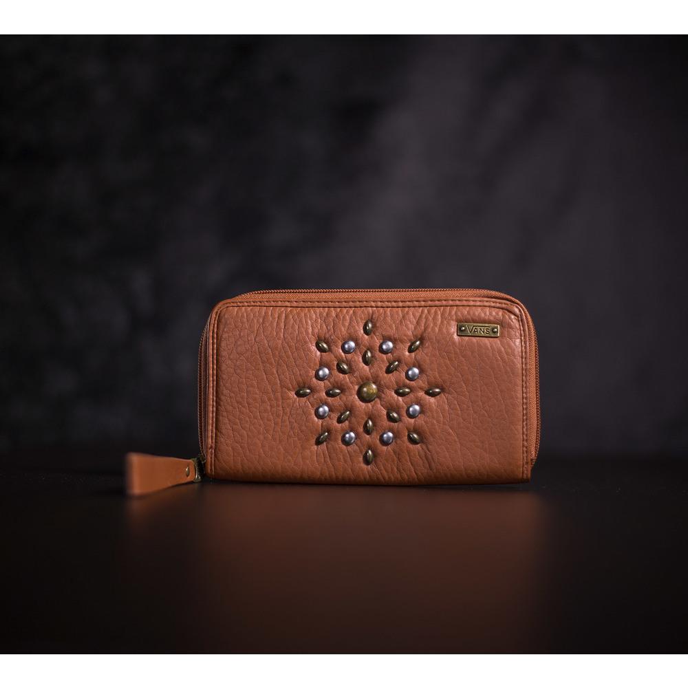 d2be8a1ad0dd Kvalitná hnedá peňaženka Vans Gypsy Wallet s kovovými doplnkami a ...