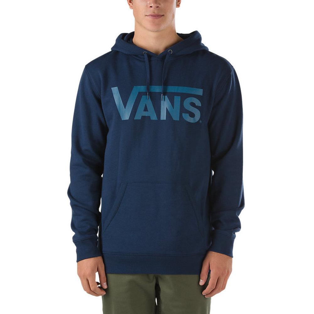 36938214d31f Pánska mikina Vans classic pullover v navy farbe s kapucňou a modrým ...