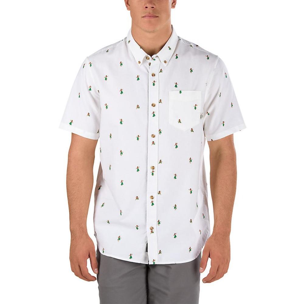 6b6918d1bef1 Pánska biela košela Vans Houser ss so vzorom havajských tanečníc ...