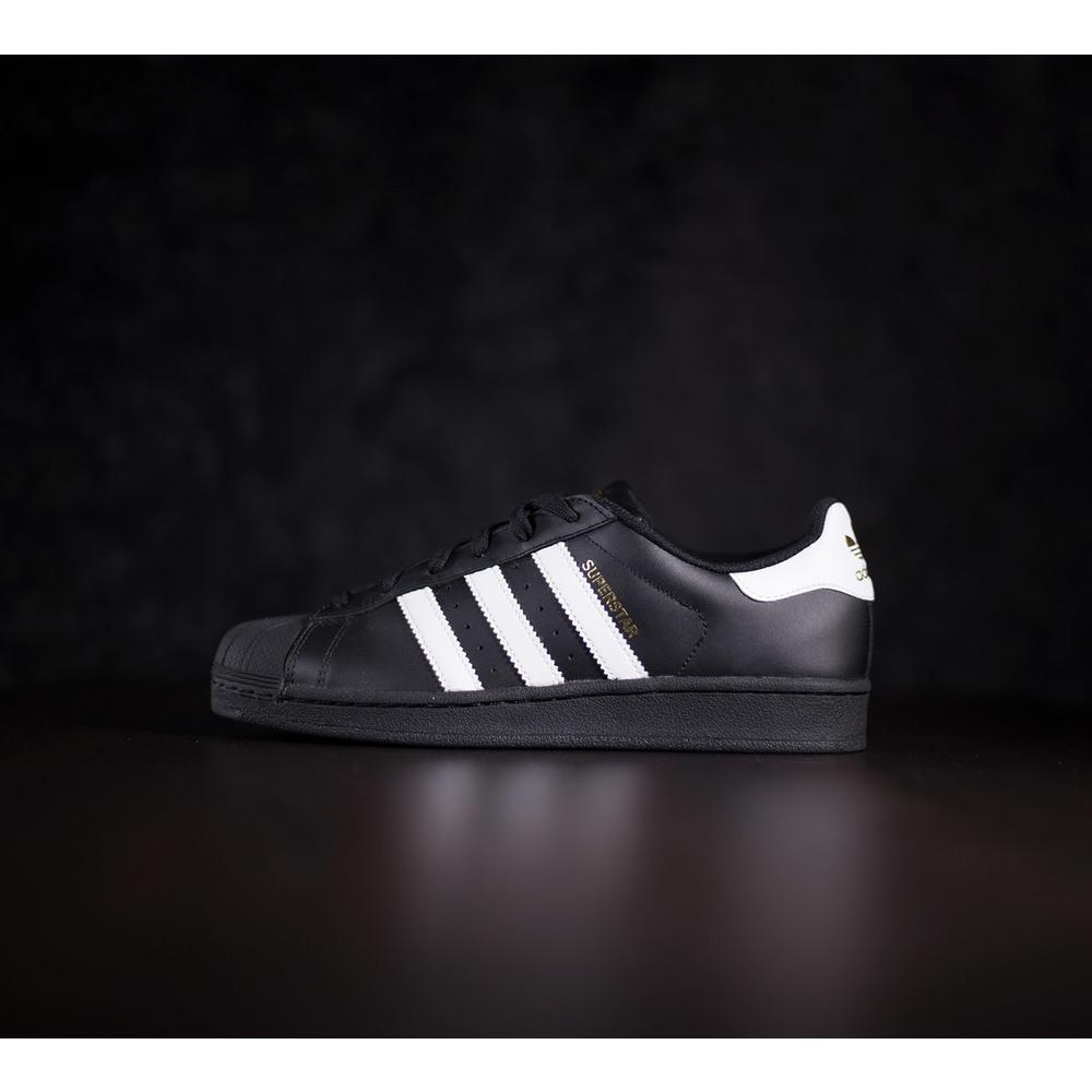 70caf12f8a3bf Čierne tenisky adidas superstar foundation v koženého materiálu s ...