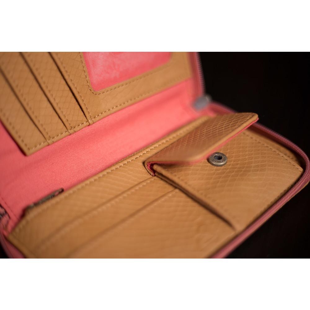 2155b9c2bd Dámska Roxy ružová peňaženka s hnedými prvkami a úložným priestorom ...