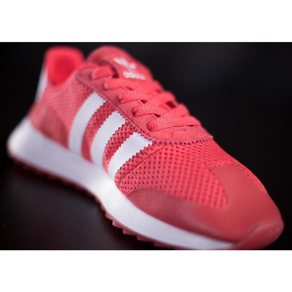 f2e2c114cf Dámske ružové tenisky adidas FLB w s textílnym zvrškom s bielymi ...