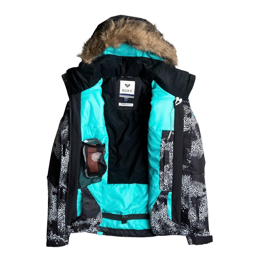 7f5c0fbba303 Dámska snowboardová bunda s guličkovým vzorom Roxy Jetty Ski s ...