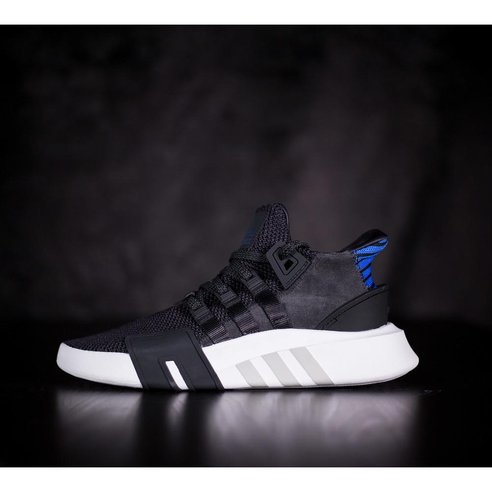 cd63b5fdff6e Pánske pohodlné čierne Adidas Equipment BASK ADV s bielou gumenou ...