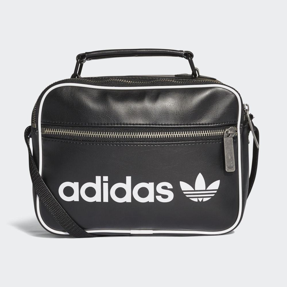 Dámska čierna kabelka Adidas Mini Vintage Airliner cez plece s ... 6d7617d35f7