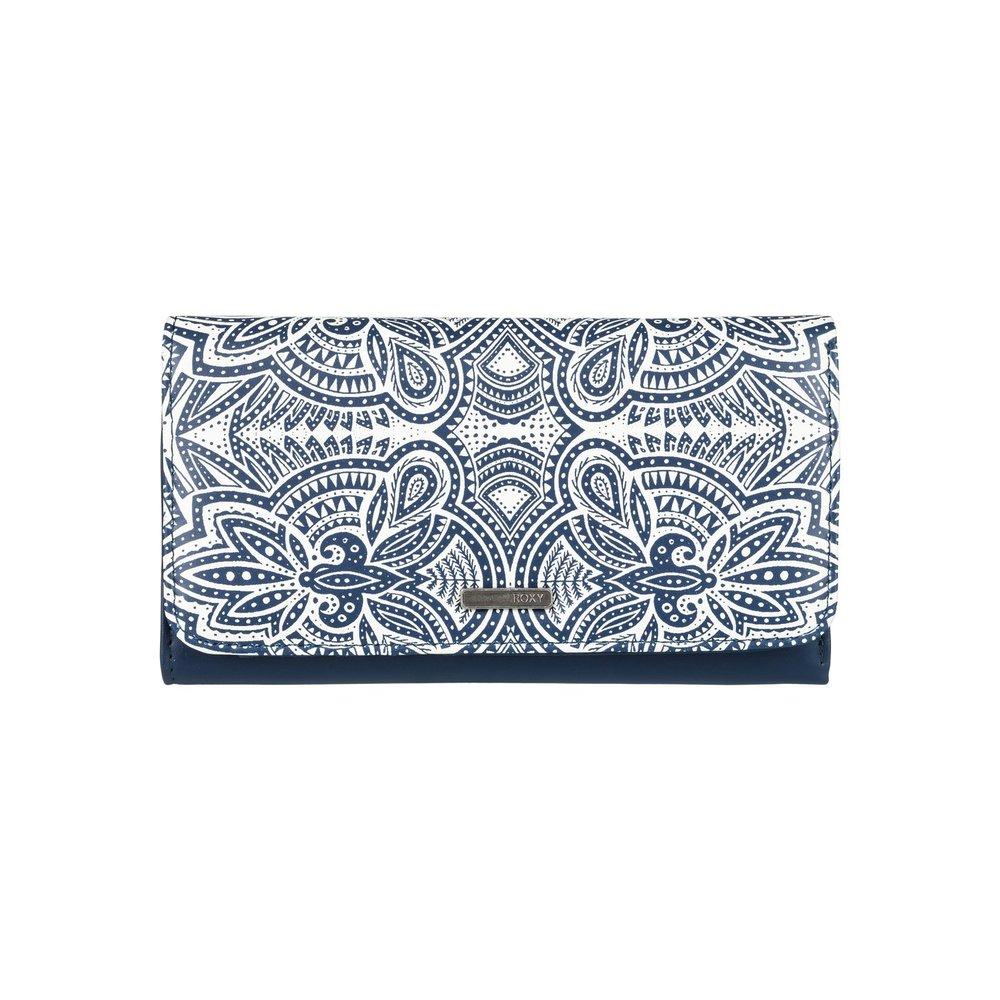 05022ee319 Dmodro-biela peňaženka Roxy My Long Eyes s geometrickým vzorom a ...