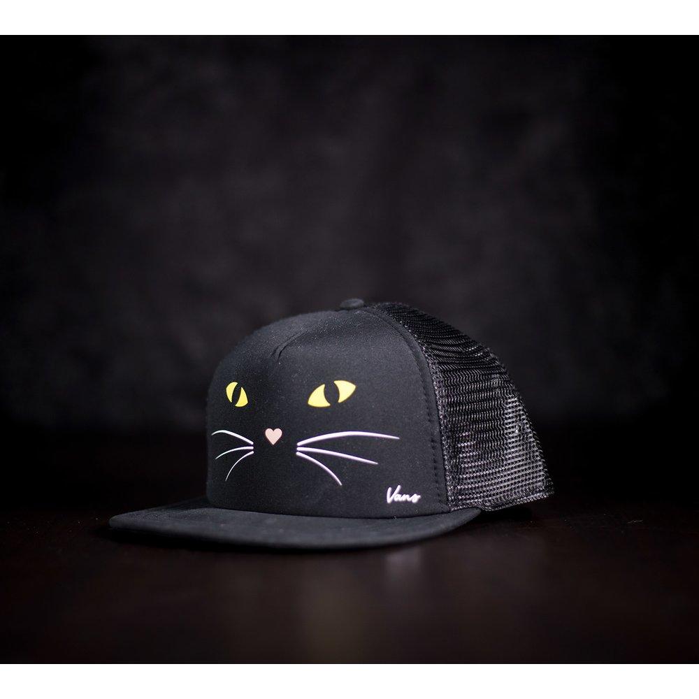 čierna mačička zo zadnej