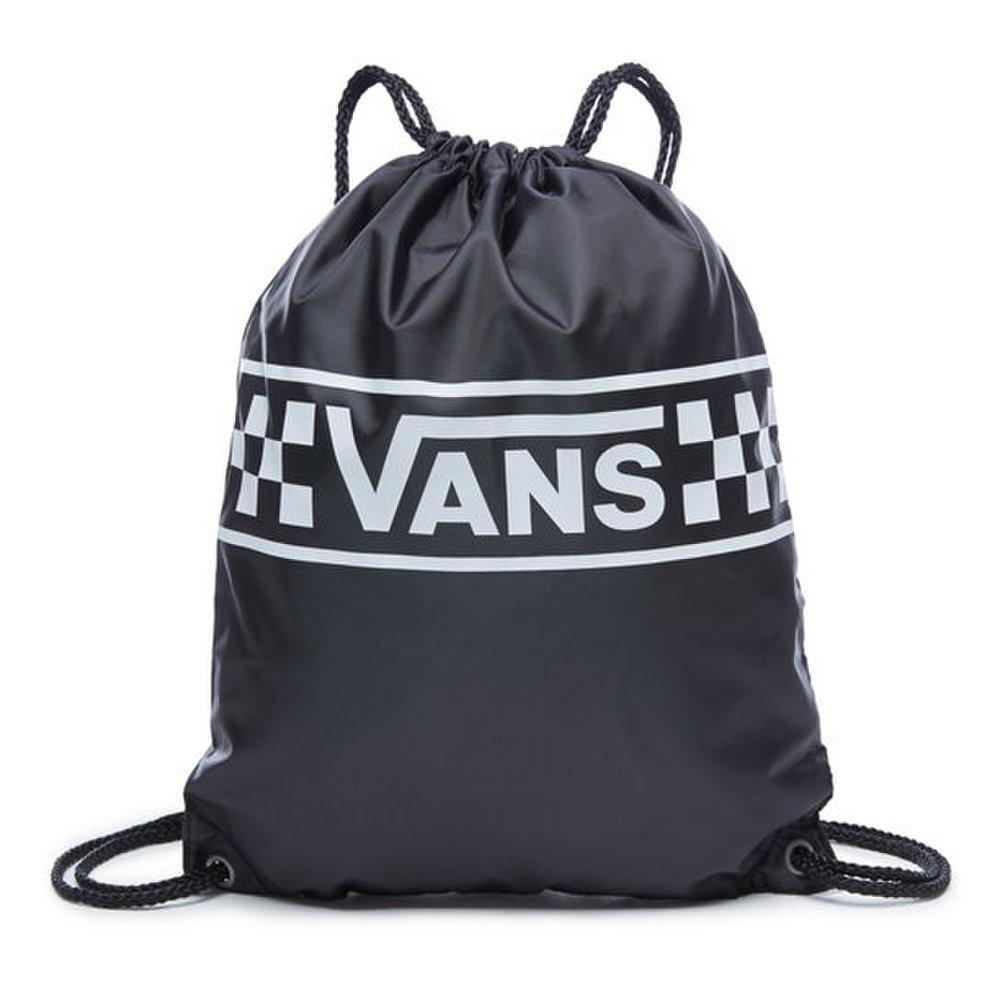 Čierne vrecko Vans Benched Bag s bielym kockovým vzorom a bielym ... b3ae43eac78