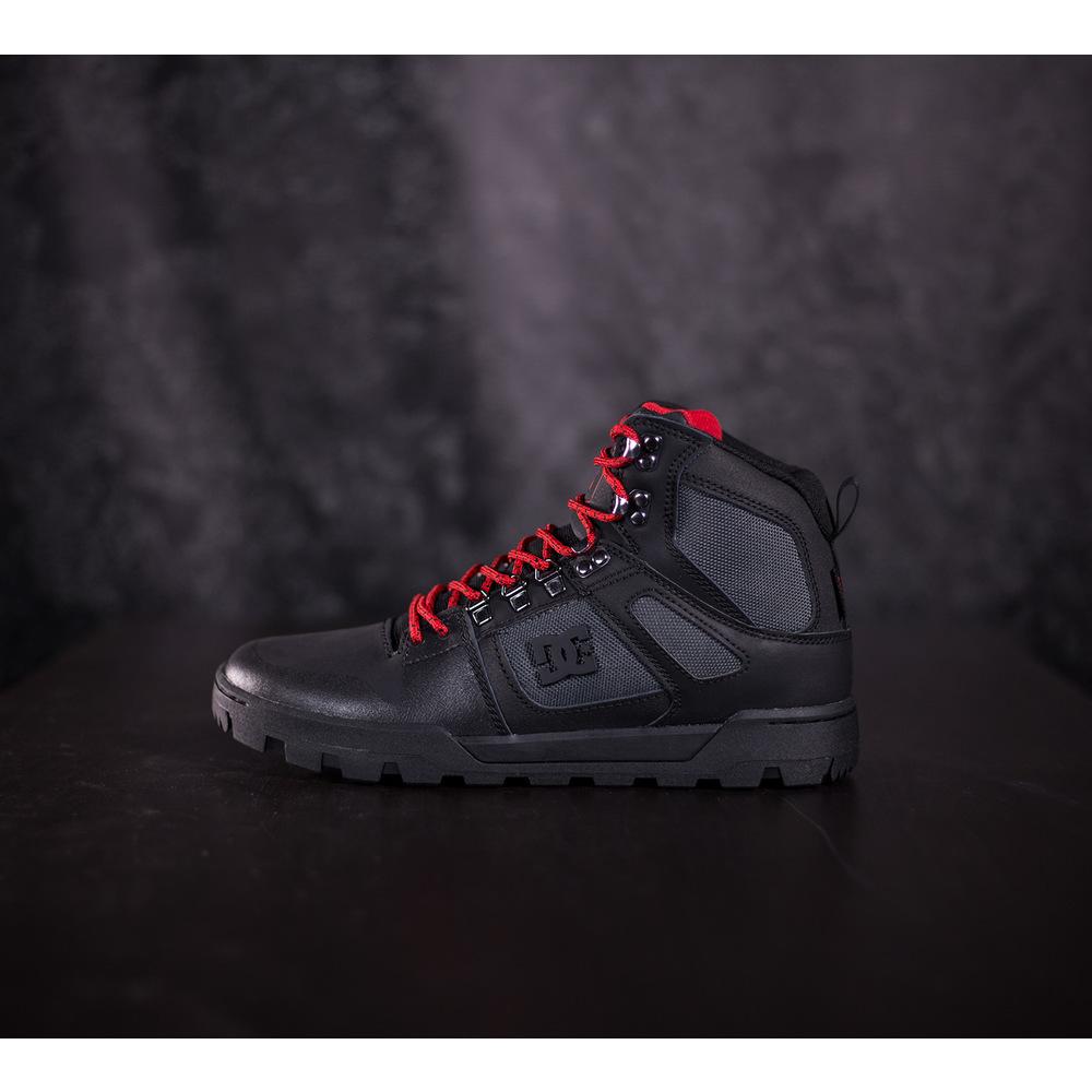 48eb2a065 Pánske zimné čierne tenisky DC Shoes Pure HT WR s čiernou ...