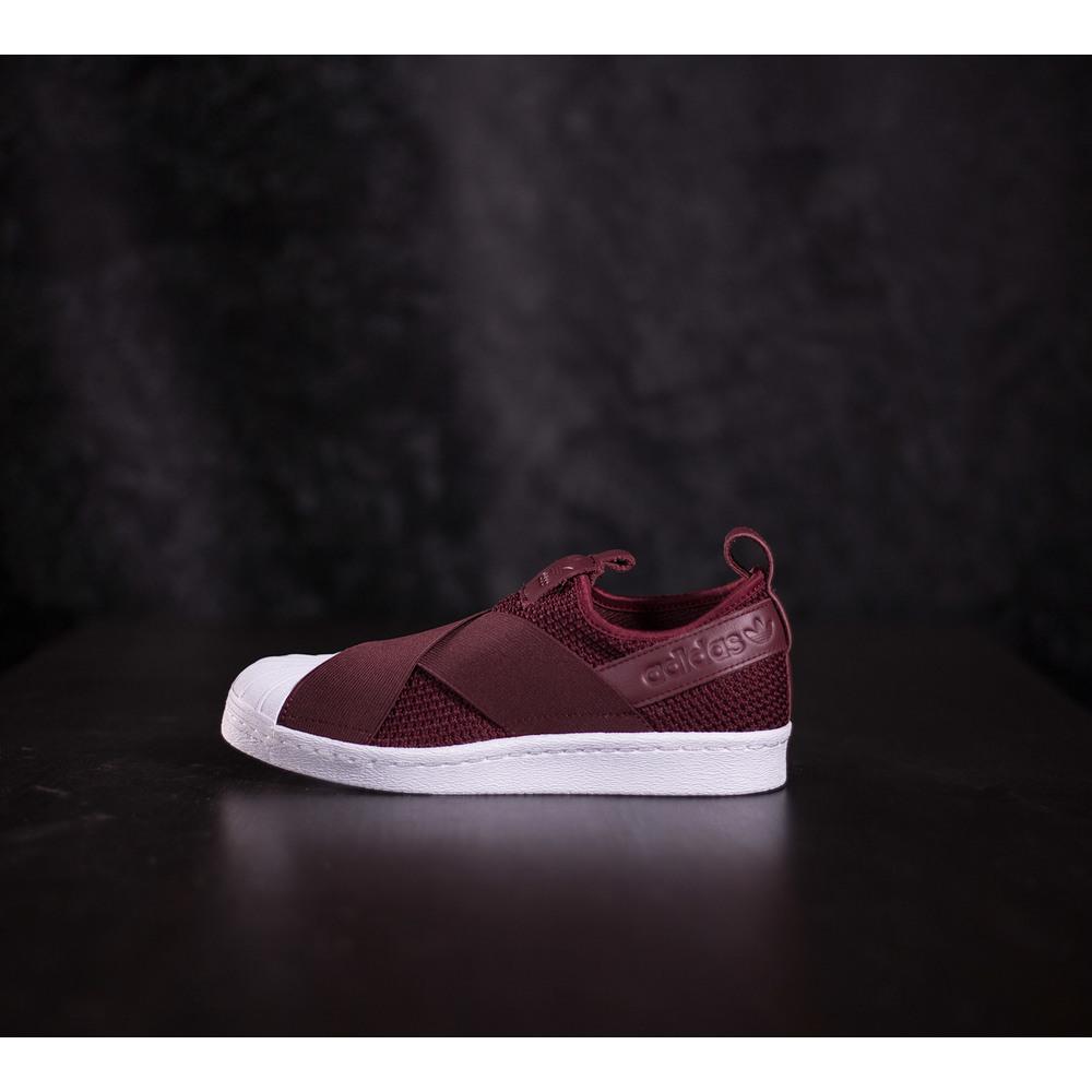 best sneakers e1dd2 78277 Dámske bordové tenisky adidas Superstar Slip On s bielou špičkou Superstar,  bielou podrážkou, elastickými popruhmi a s koženým logom Adidas - B37371