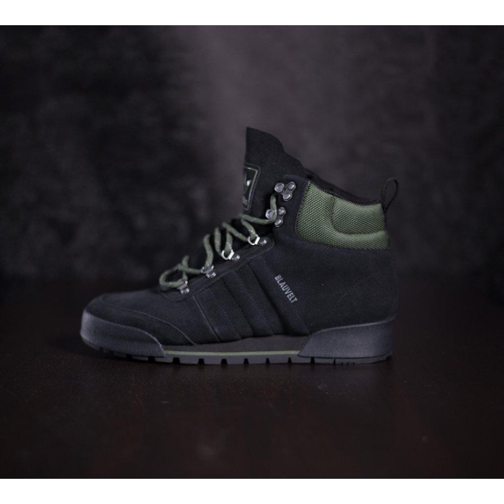 54e73e6db Čierne zimné zateplené adidas topánky Jake boot z brúsenej kože s ...