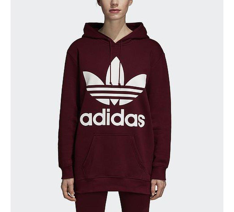 Dámska fialová oversize mikina Adidas BF TRF Hoodie s bielym logom na  hrudi 610169a04a0