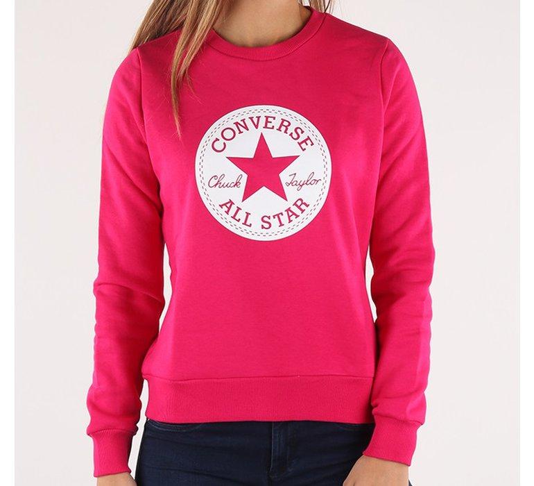 bfcbdf3364 Dámska ružová mikina Converse s bielym logom na hrudi - 10007106-A04