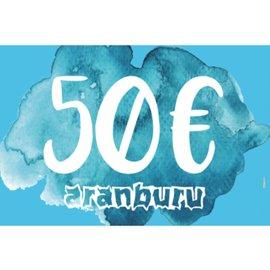 Darčekový poukaz aranburu 50€