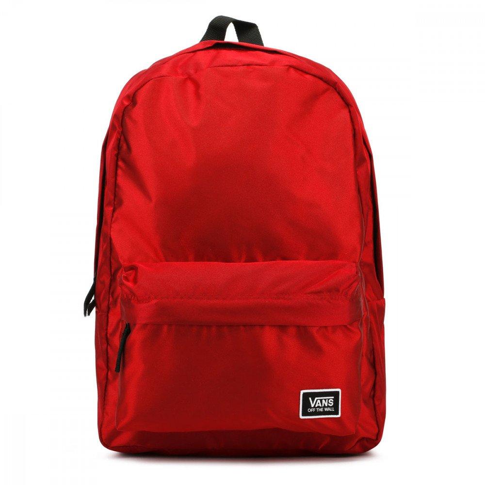 Lesklý červený dámsky batoh Vans Deana III s objemom 22 litrov ... fccb4575f58