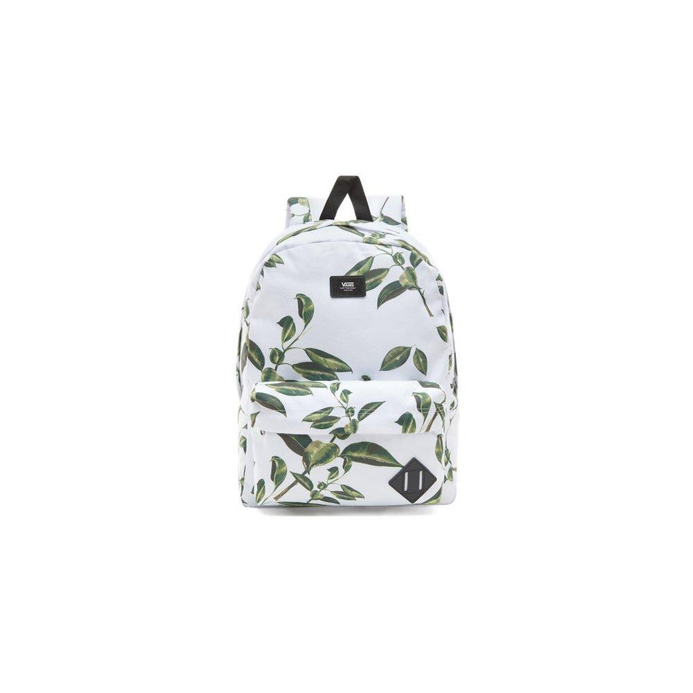 c873d36f0e Biely batoh Vans Old Skool II Backpack s listovým vzorom