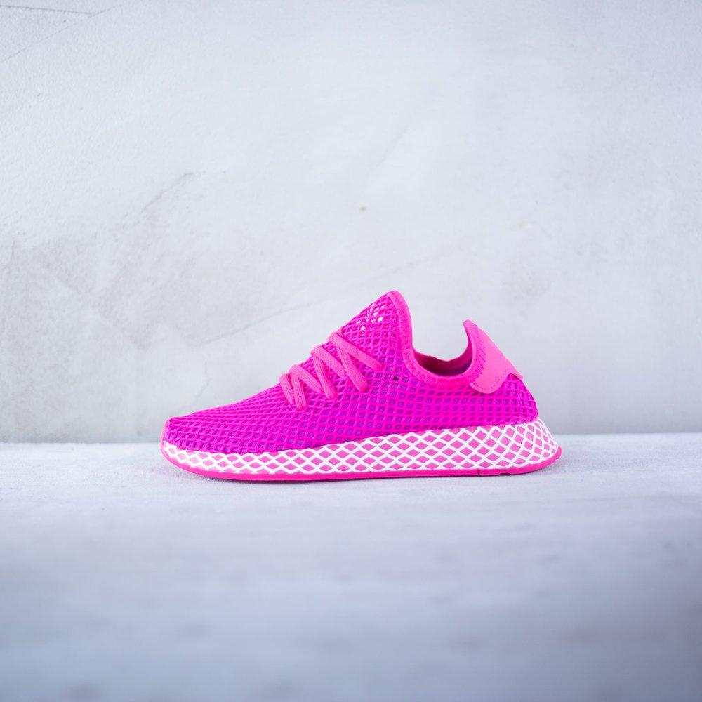 6eaabfa863168 Dámske tenisky adidas model Deerupt Runner s fialovým látkovým ...