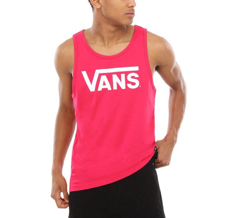 87d560ac519c Pánske bavlnené tielko značky Vans model Classic Tank vo výraznej ružovej  farbe s bielym logom značky na hrudi - VN000Y8VTDE