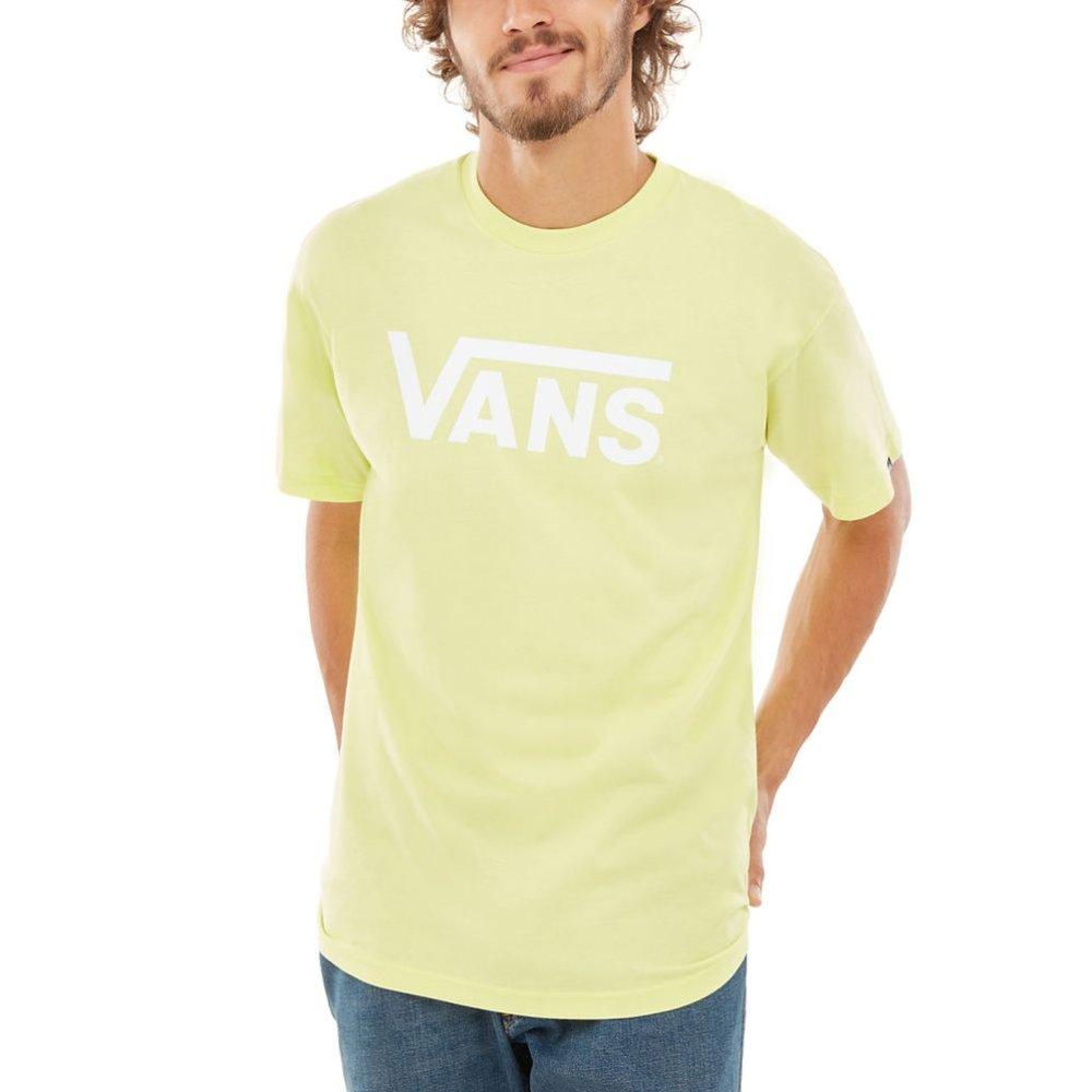 69a83af67e1a Neónové žlté tričko značky Vans model Classic pre pánov má krátky ...